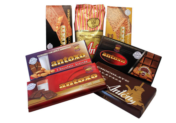 Productos chocomino antoxo chocolates